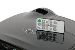 De modieuze zwarte projector van de huisbioskoop met mini ver Stock Fotografie