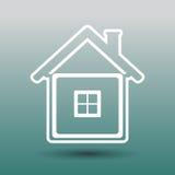 de modification de maison de graphisme blanc bleu de vecteur simplement Illustration Stock