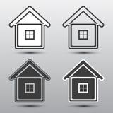 de modification de maison de graphisme blanc bleu de vecteur simplement Photos libres de droits