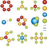 De modules van de molecule Stock Afbeelding
