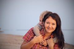 De moeder en de zoon royalty-vrije stock foto