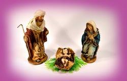 De Moeder Mary en Joseph van babyjesus Stock Fotografie