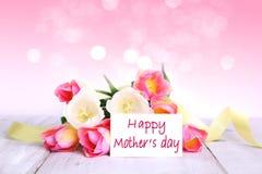 De moeder` s dag bloeit lege ruimteachtergrond Royalty-vrije Stock Afbeelding