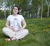 De moeder van de zwangerschap Stock Fotografie