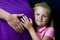De moeder is zwanger royalty-vrije stock foto