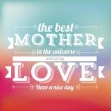 De moederdag Stock Afbeeldingen