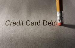 De moeilijke situatie van de creditcardschuld stock afbeelding