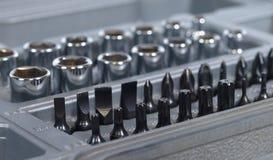 De moersleutel en de schroevedraaierbit van de contactdoos reeks Royalty-vrije Stock Afbeelding