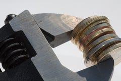 De moersleutel van het geld Stock Fotografie
