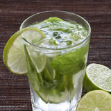 De Mojitokalk drinkt Cocktail royalty-vrije stock foto's