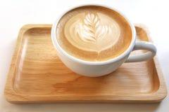 De mok de koffie van de lattekunst Royalty-vrije Stock Afbeelding