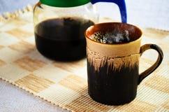 De mok van de koffie met automaat Royalty-vrije Stock Foto