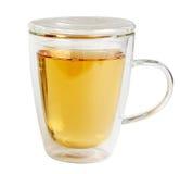 De mok van het glas met thee Stock Afbeelding