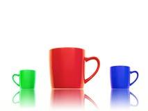 De Mokken van de koffie Royalty-vrije Stock Foto