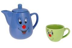 De mokken van de thee en koffiekoppen Stock Afbeelding