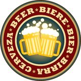 De mokken van het bier stock afbeeldingen
