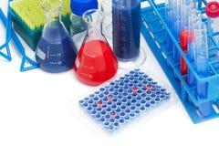De moleculaire hulpmiddelen van het biologielaboratorium royalty-vrije stock afbeelding