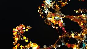 De moleculaire Netwerkgroei vector illustratie
