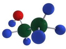 De molecule van de ethylalcohol Stock Foto's