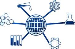 De molecule van de wetenschap Stock Afbeelding