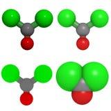 De molecule van het fosgeen Stock Afbeeldingen