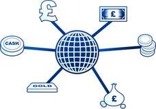 De molecule van het geld vector illustratie