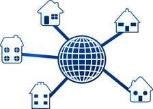 De molecule van het huis vector illustratie