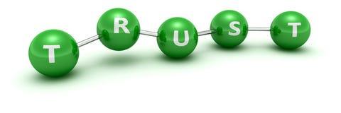 De molecule van het vertrouwen royalty-vrije illustratie