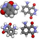 De molecule van Luminol Stock Foto