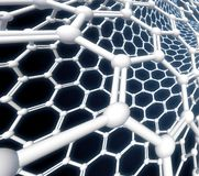 De molecule van Nanotube het 3D teruggeven Stock Afbeeldingen