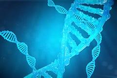 De molecule van schroefdna met gewijzigde genen Het verbeteren verandering door genetische biologie 3d concepten Moleculaire gene Stock Afbeelding
