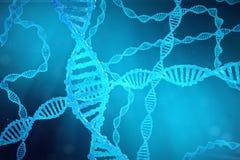De molecule van schroefdna met gewijzigde genen Het verbeteren verandering door genetische biologie 3d concepten Moleculaire gene Stock Afbeeldingen