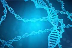 De molecule van schroefdna met gewijzigde genen Het verbeteren verandering door genetische biologie 3d concepten Moleculaire gene Royalty-vrije Stock Foto