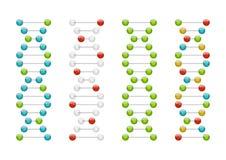 De molecules van DNA Stock Foto