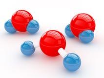 De molecules van het water Royalty-vrije Stock Foto