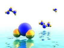 De molecules van het water vector illustratie