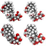 De molecules van Stevioside Royalty-vrije Stock Fotografie