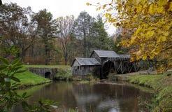 De Molen Blauw Ridge Parkway Virginia de V.S. van het Mabrymaalkoren Royalty-vrije Stock Fotografie