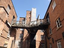 De molen van de steengroevebank Stock Foto