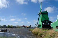 De molen van de wind van zaanse schans… Royalty-vrije Stock Foto
