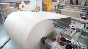 De molen van het papier en van de pulp stock video