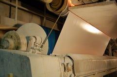 De molen van het papier en van de pulp Stock Fotografie