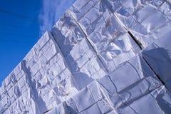 De molen van het papier en van de pulp - Cellulose stock afbeeldingen