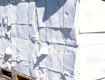 De molen van het papier en van de pulp - Cellulose stock foto