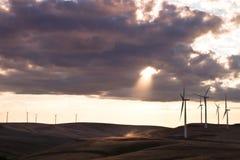 De molenlandbouwbedrijf van de wind Royalty-vrije Stock Foto's