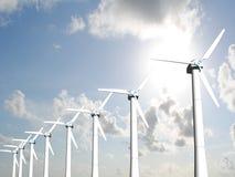 De molens van de wind Royalty-vrije Stock Afbeeldingen