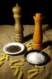 De Molens van het zout en van de Peper Stock Fotografie