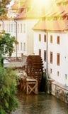 De molens van Sova met waterman Kabourek in Praag Royalty-vrije Stock Afbeeldingen
