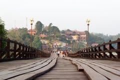 De monbrug van sangkhlaburi, kanchanaburi Royalty-vrije Stock Afbeeldingen