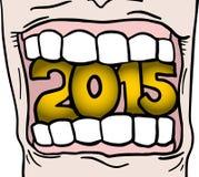 de mond van 2015 Royalty-vrije Stock Foto
